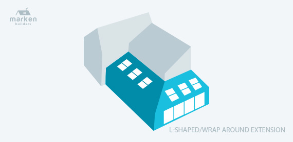 L Shaped or Wrap Around Home Extension